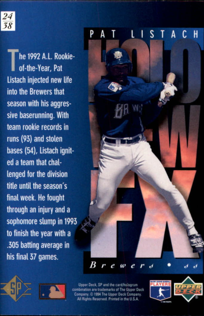 1994-SP-Holoviews-Baseball-1-38-Your-Choice-GOTBASEBALLCARDS thumbnail 39