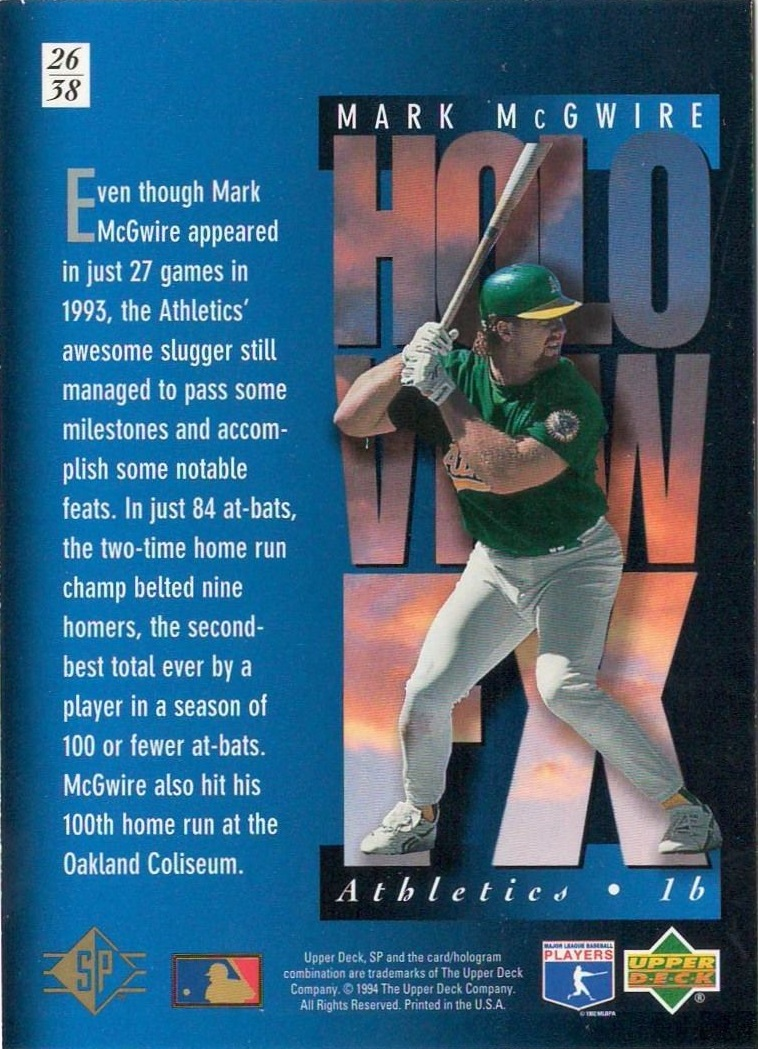 1994-SP-Holoviews-Baseball-1-38-Your-Choice-GOTBASEBALLCARDS thumbnail 43
