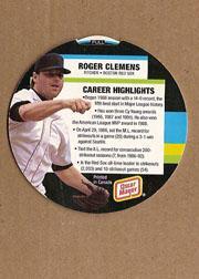 1994 Oscar Mayer Round-Ups #3 Roger Clemens back image