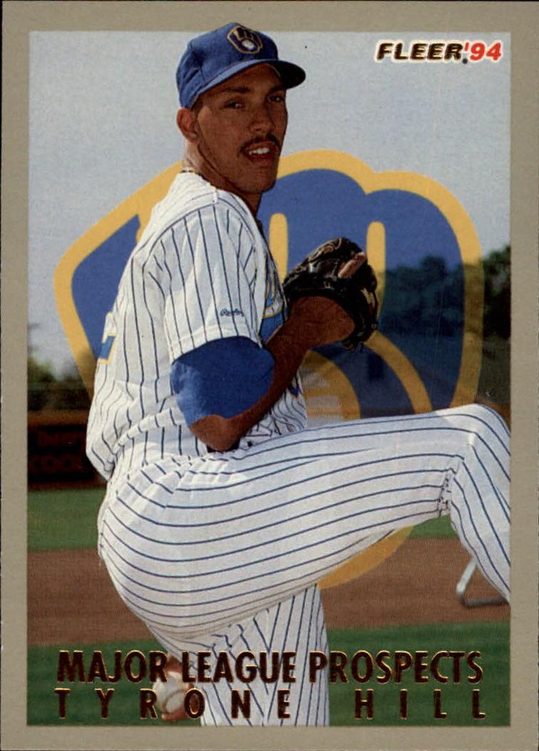 1994 Fleer Major League Prospects 13 Tyrone Hill NM MT