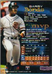 1994 Stadium Club Members Only Parallel #238 Barry Bonds back image