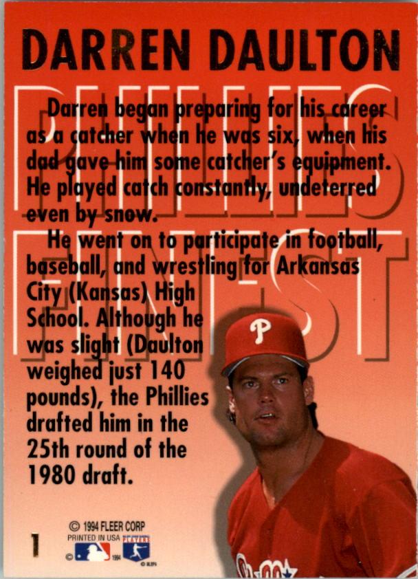 1994-Ultra-Phillies-Finest-Baseball-1-20-Your-Choice-GOTBASEBALLCARDS thumbnail 3
