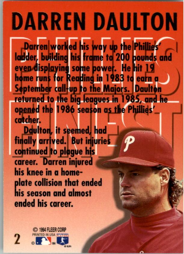 1994-Ultra-Phillies-Finest-Baseball-1-20-Your-Choice-GOTBASEBALLCARDS thumbnail 5