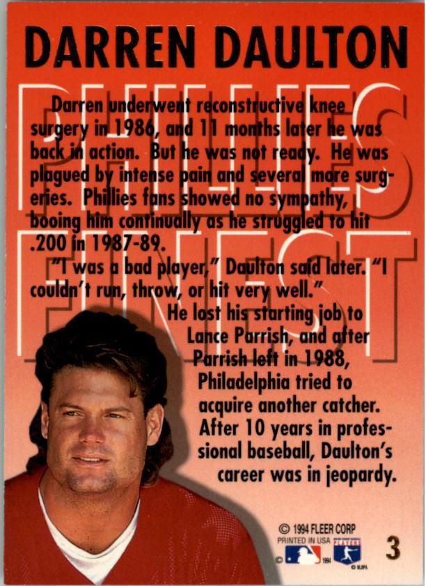 1994-Ultra-Phillies-Finest-Baseball-1-20-Your-Choice-GOTBASEBALLCARDS thumbnail 7