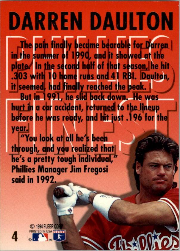 1994-Ultra-Phillies-Finest-Baseball-1-20-Your-Choice-GOTBASEBALLCARDS thumbnail 9