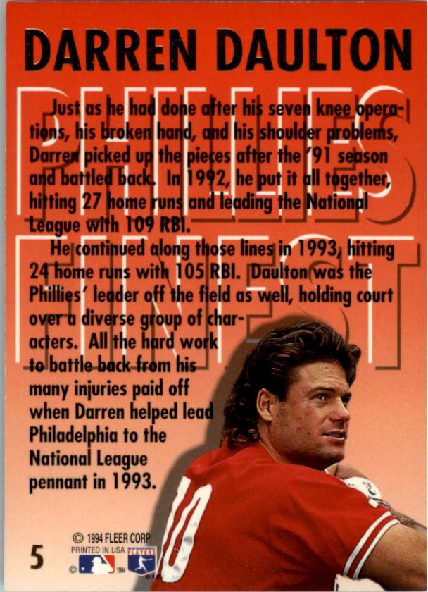 1994-Ultra-Phillies-Finest-Baseball-1-20-Your-Choice-GOTBASEBALLCARDS thumbnail 11