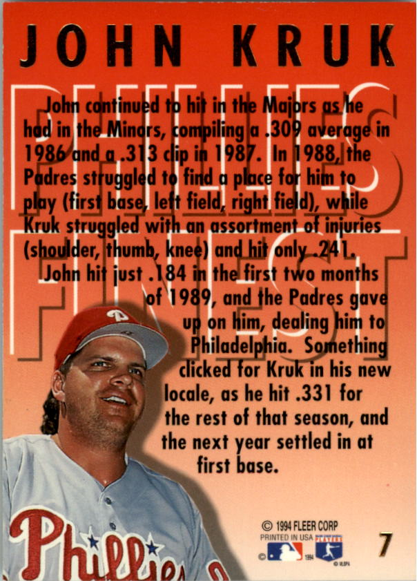 1994-Ultra-Phillies-Finest-Baseball-1-20-Your-Choice-GOTBASEBALLCARDS thumbnail 15
