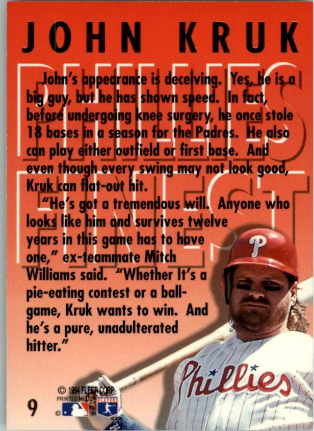 1994-Ultra-Phillies-Finest-Baseball-1-20-Your-Choice-GOTBASEBALLCARDS thumbnail 19