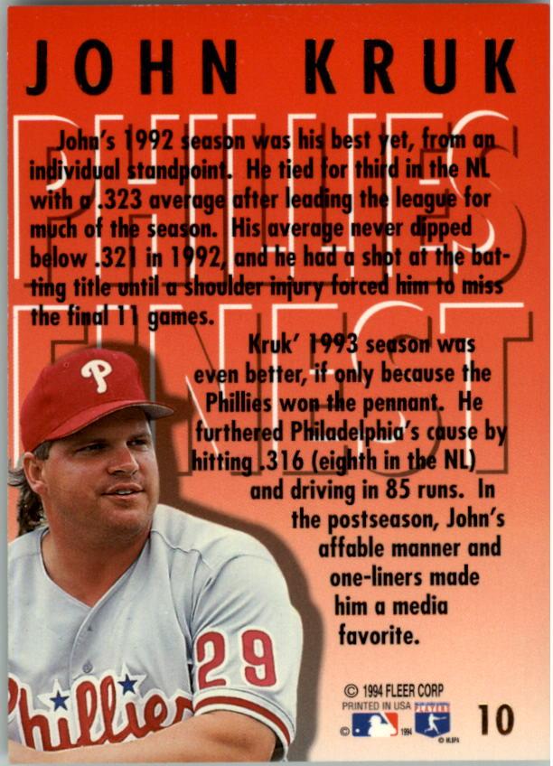 1994-Ultra-Phillies-Finest-Baseball-1-20-Your-Choice-GOTBASEBALLCARDS thumbnail 21