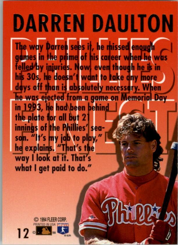 1994-Ultra-Phillies-Finest-Baseball-1-20-Your-Choice-GOTBASEBALLCARDS thumbnail 25