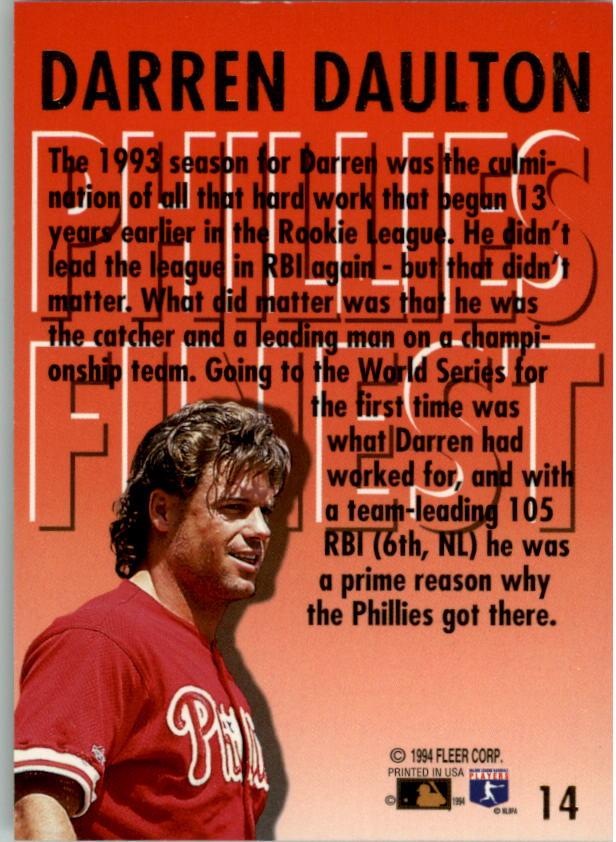 1994-Ultra-Phillies-Finest-Baseball-1-20-Your-Choice-GOTBASEBALLCARDS thumbnail 28