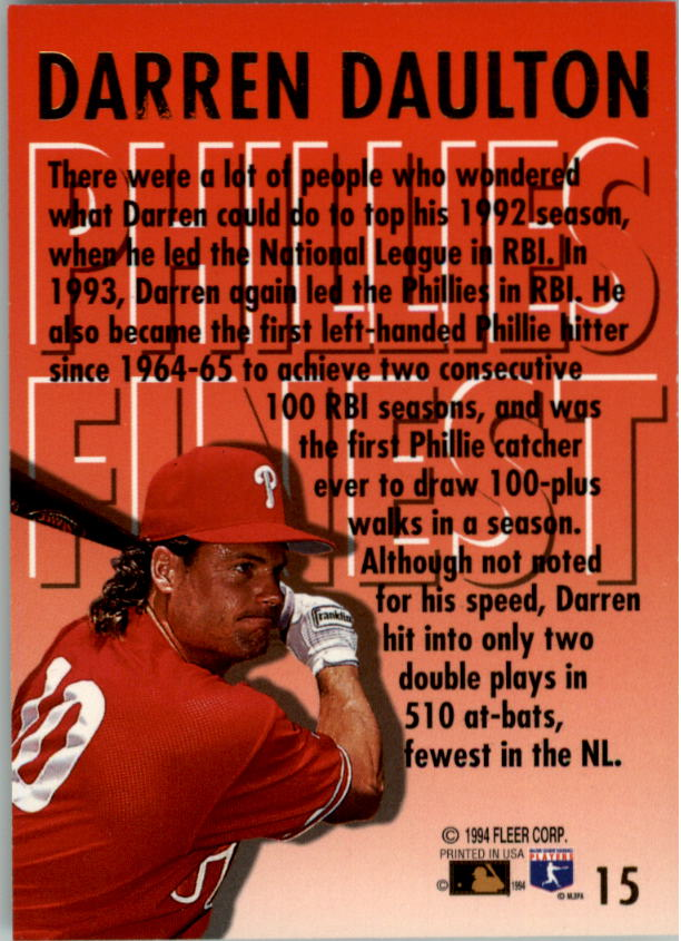 1994-Ultra-Phillies-Finest-Baseball-1-20-Your-Choice-GOTBASEBALLCARDS thumbnail 30
