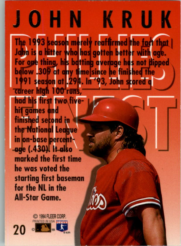 1994-Ultra-Phillies-Finest-Baseball-1-20-Your-Choice-GOTBASEBALLCARDS thumbnail 35