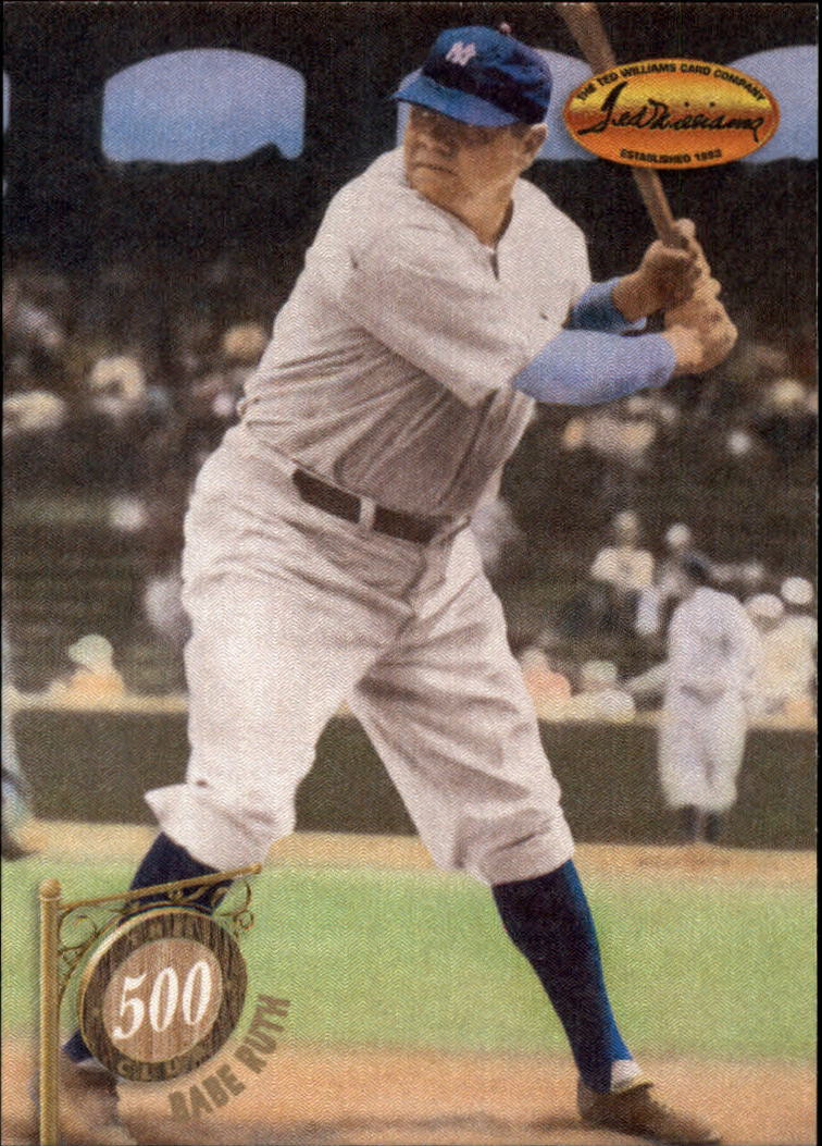1994 Ted Williams 500 Club #6 Babe Ruth
