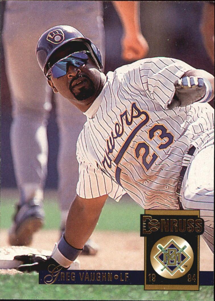 1994 Donruss #339 Greg Vaughn