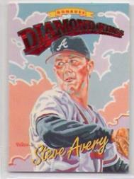1994 Donruss Diamond Kings Jumbo #DK3 Steve Avery
