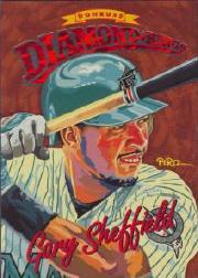 1994 Donruss Diamond Kings Jumbo #DK25 Gary Sheffield
