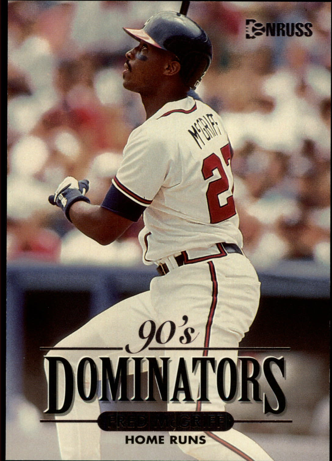 1994 Donruss Dominators Jumbos #A3 Fred McGriff