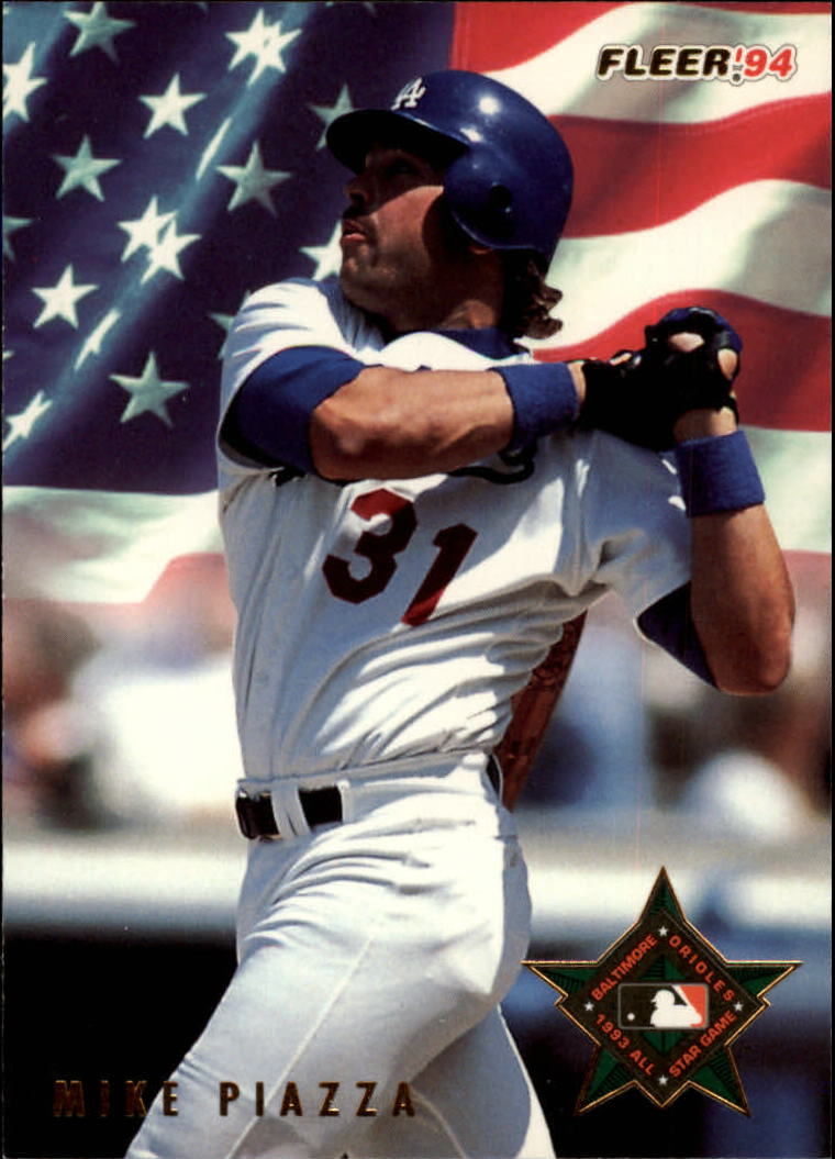 Details About 1994 Fleer All Stars Los Angeles Dodgers Baseball Card 47 Mike Piazza