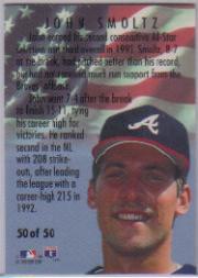 1994 Fleer All-Stars #50 John Smoltz back image