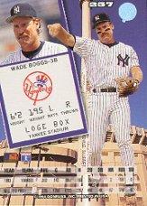 1994 Leaf #257 Wade Boggs back image