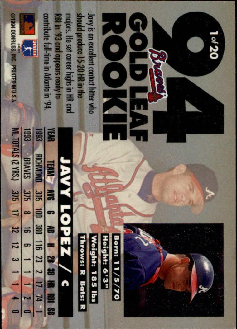 1994-Leaf-Gold-Rookies-Baseball-1-20-Your-Choice-GOTBASEBALLCARDS thumbnail 3