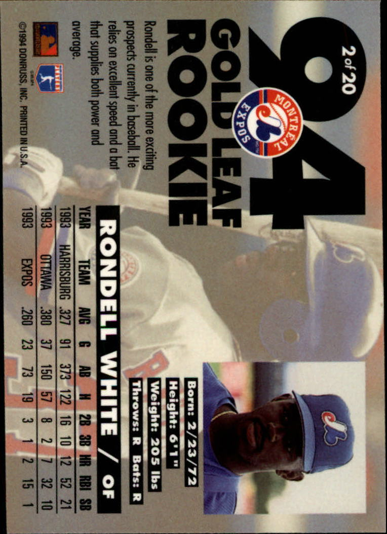 1994-Leaf-Gold-Rookies-Baseball-1-20-Your-Choice-GOTBASEBALLCARDS thumbnail 5