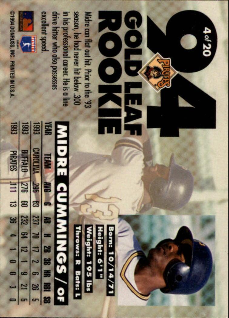 1994-Leaf-Gold-Rookies-Baseball-1-20-Your-Choice-GOTBASEBALLCARDS thumbnail 9