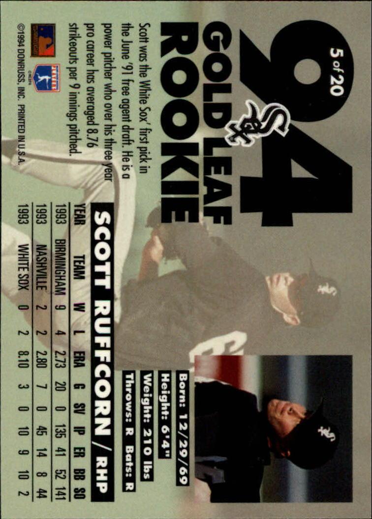 1994-Leaf-Gold-Rookies-Baseball-1-20-Your-Choice-GOTBASEBALLCARDS thumbnail 11