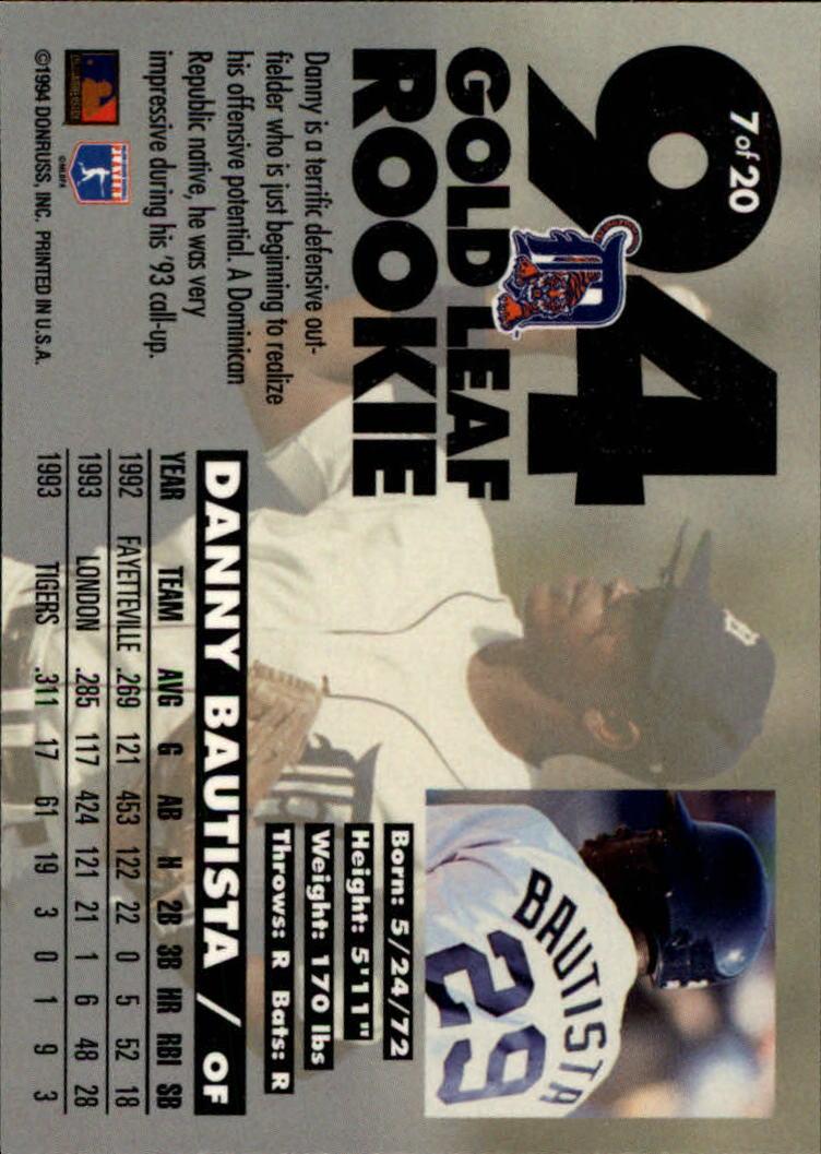 1994-Leaf-Gold-Rookies-Baseball-1-20-Your-Choice-GOTBASEBALLCARDS thumbnail 15
