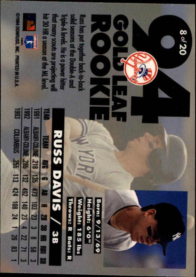 1994-Leaf-Gold-Rookies-Baseball-1-20-Your-Choice-GOTBASEBALLCARDS thumbnail 17