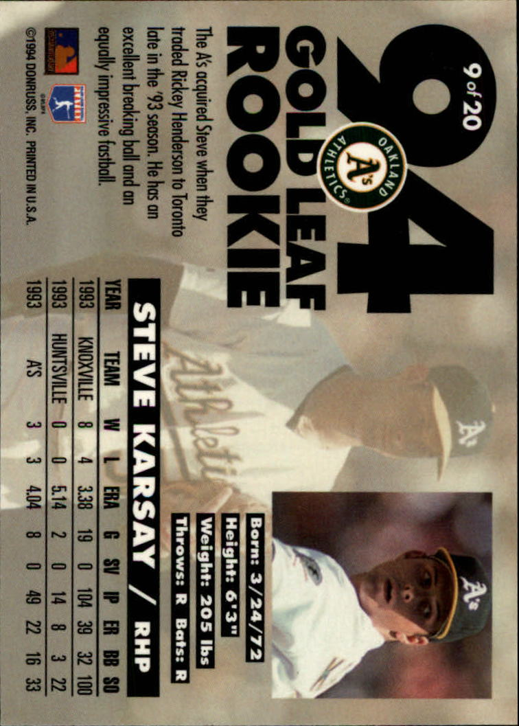 1994-Leaf-Gold-Rookies-Baseball-1-20-Your-Choice-GOTBASEBALLCARDS thumbnail 19