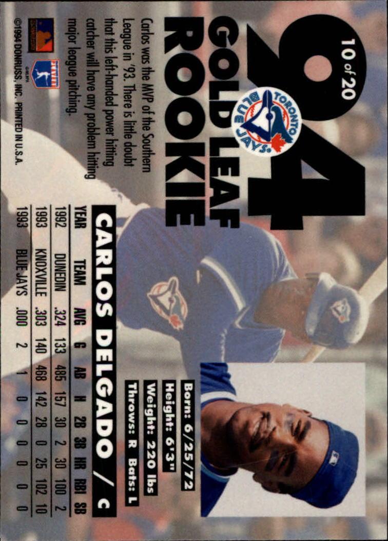 1994-Leaf-Gold-Rookies-Baseball-1-20-Your-Choice-GOTBASEBALLCARDS thumbnail 21