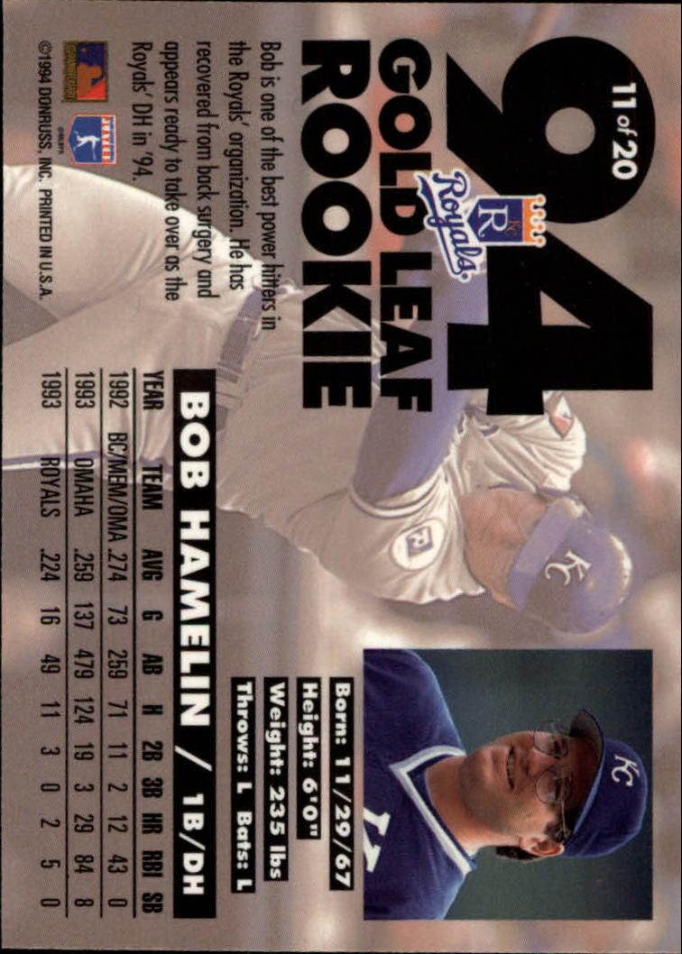1994-Leaf-Gold-Rookies-Baseball-1-20-Your-Choice-GOTBASEBALLCARDS thumbnail 23