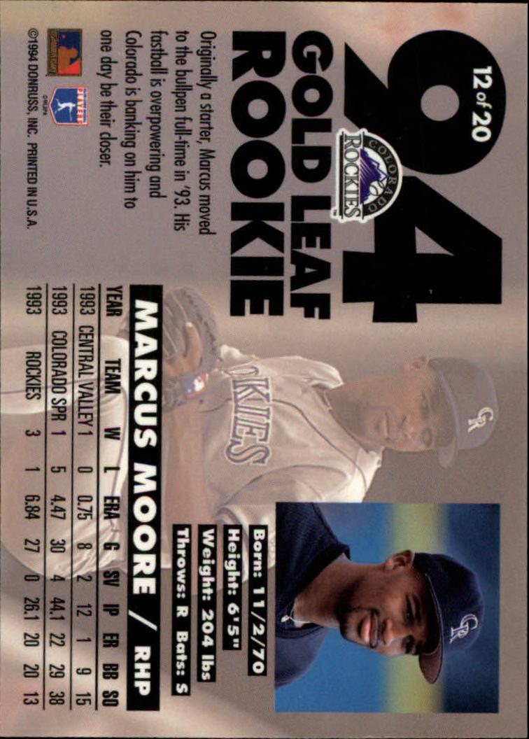 1994-Leaf-Gold-Rookies-Baseball-1-20-Your-Choice-GOTBASEBALLCARDS thumbnail 25