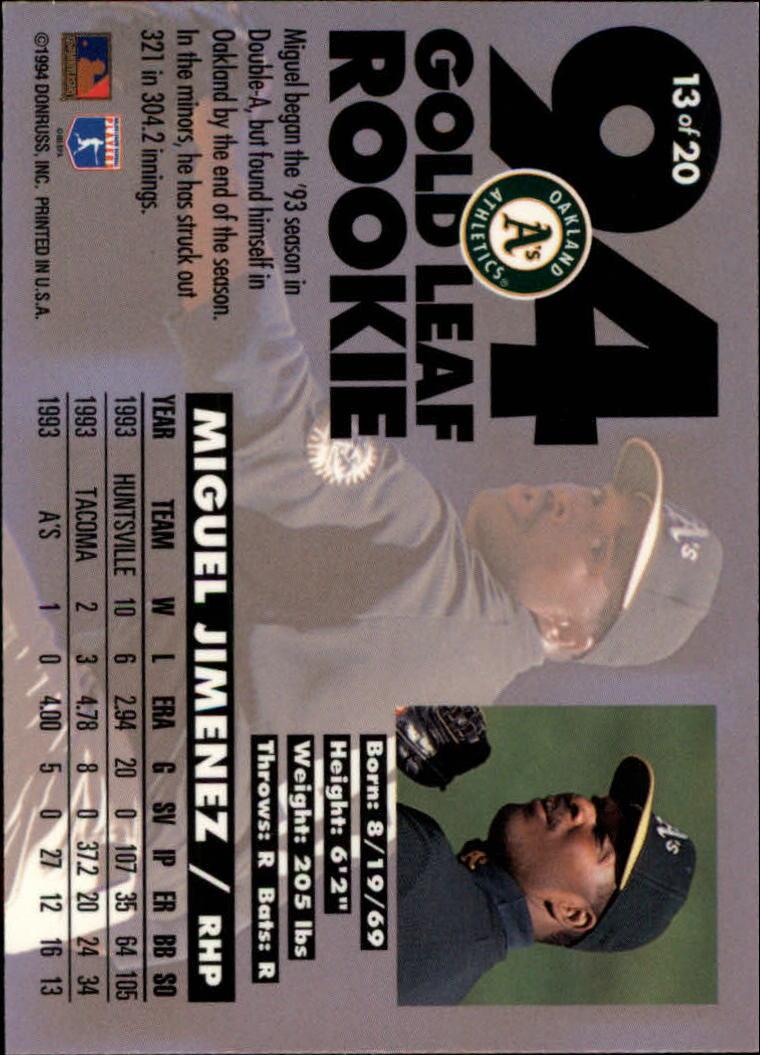 1994-Leaf-Gold-Rookies-Baseball-1-20-Your-Choice-GOTBASEBALLCARDS thumbnail 27