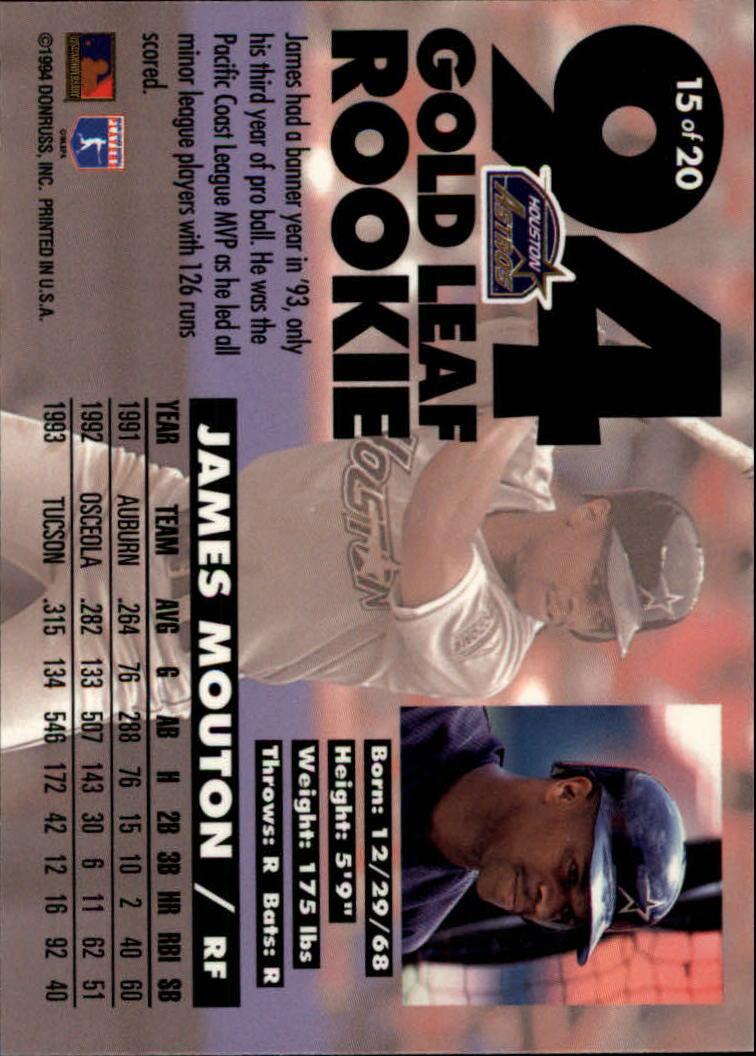 1994-Leaf-Gold-Rookies-Baseball-1-20-Your-Choice-GOTBASEBALLCARDS thumbnail 31