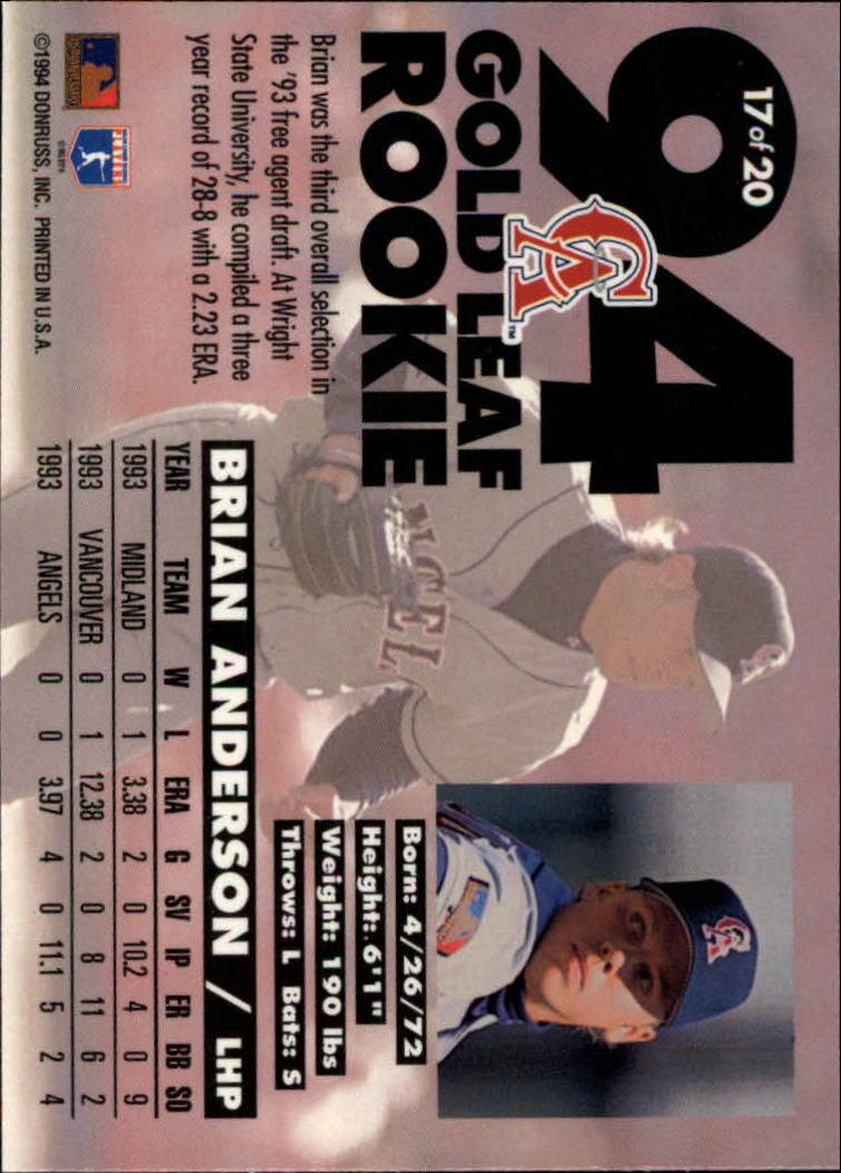 1994-Leaf-Gold-Rookies-Baseball-1-20-Your-Choice-GOTBASEBALLCARDS thumbnail 35
