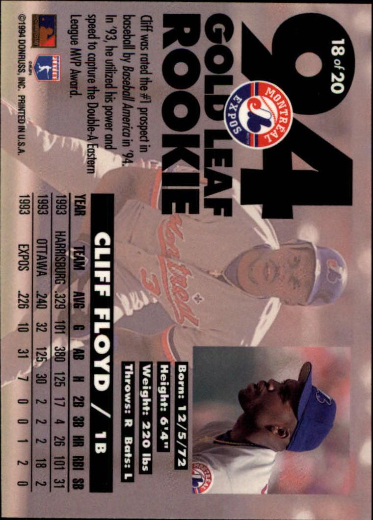 1994-Leaf-Gold-Rookies-Baseball-1-20-Your-Choice-GOTBASEBALLCARDS thumbnail 37