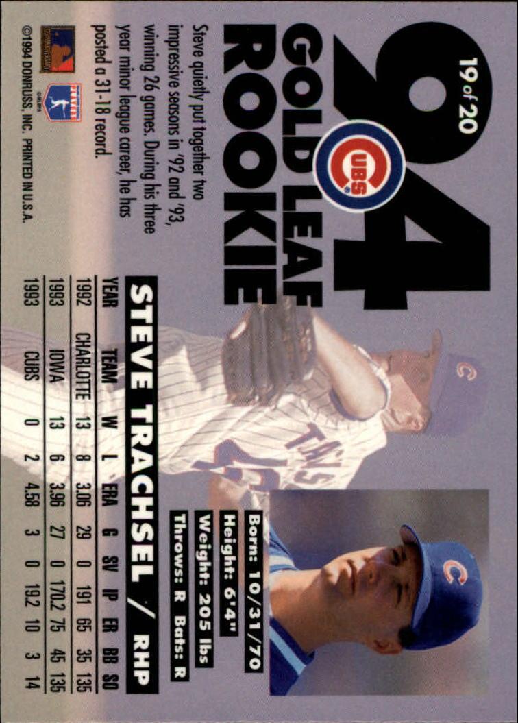 1994-Leaf-Gold-Rookies-Baseball-1-20-Your-Choice-GOTBASEBALLCARDS thumbnail 39