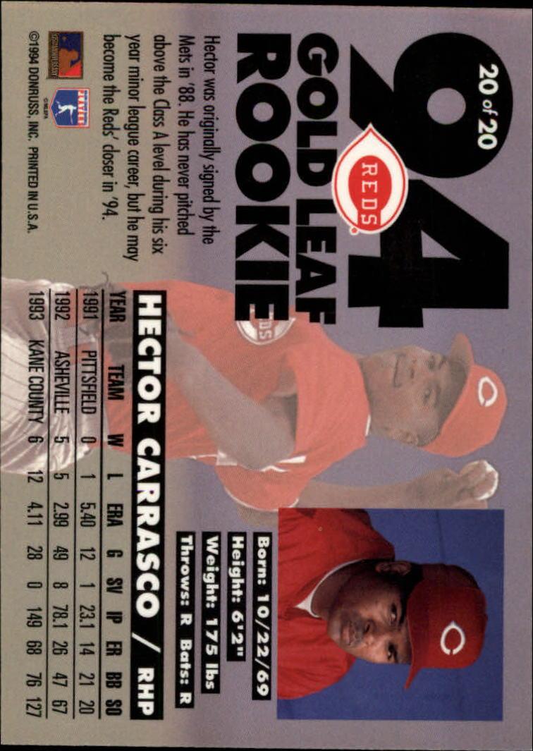 1994-Leaf-Gold-Rookies-Baseball-1-20-Your-Choice-GOTBASEBALLCARDS thumbnail 41