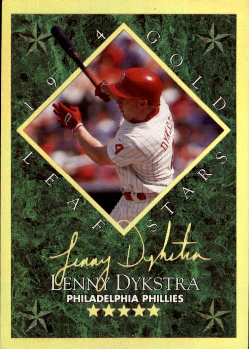 1994 Leaf Gold Stars #5 Lenny Dykstra
