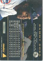 1994 Pinnacle #3 Sammy Sosa back image