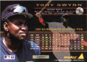 1994 Pinnacle #4 Tony Gwynn back image