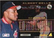 1994 Pinnacle #15 Albert Belle back image