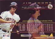 1994 Pinnacle #73 Jim Thome back image
