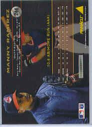 1994 Pinnacle #244 Manny Ramirez back image