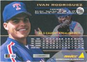1994 Pinnacle #349 Ivan Rodriguez back image
