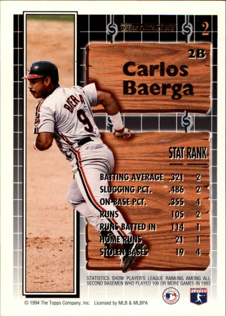 1994-Topps-Black-Gold-Baseball-1-38-Your-Choice-GOTBASEBALLCARDS thumbnail 4