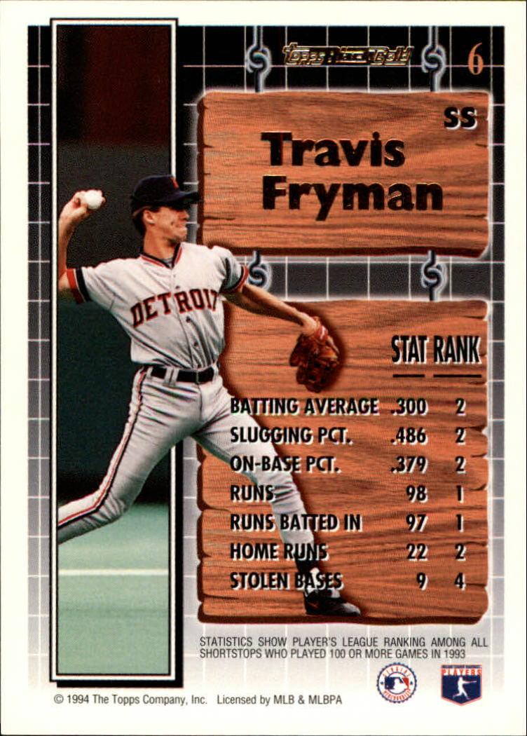 1994-Topps-Black-Gold-Baseball-1-38-Your-Choice-GOTBASEBALLCARDS thumbnail 11